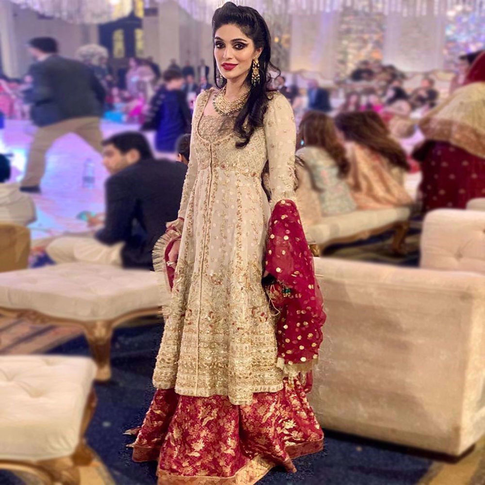 """Picture of The ever stunning @hafsashayan exuding the old world charm in """"Chambeli"""" from our Bridal Collection '19"""