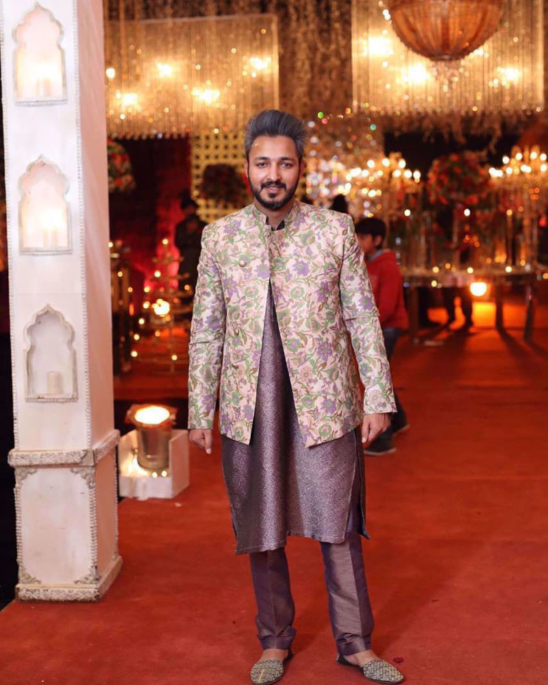 Picture of Amjad Bhatti in menswear by Zainab Salman