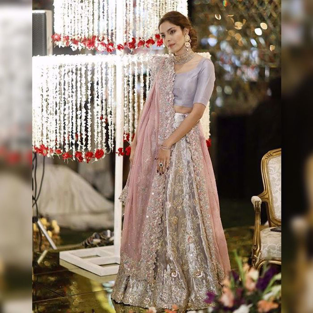 Picture of Dur e shahvar is an absolute stunner in this lilac piece by Zainab Salman