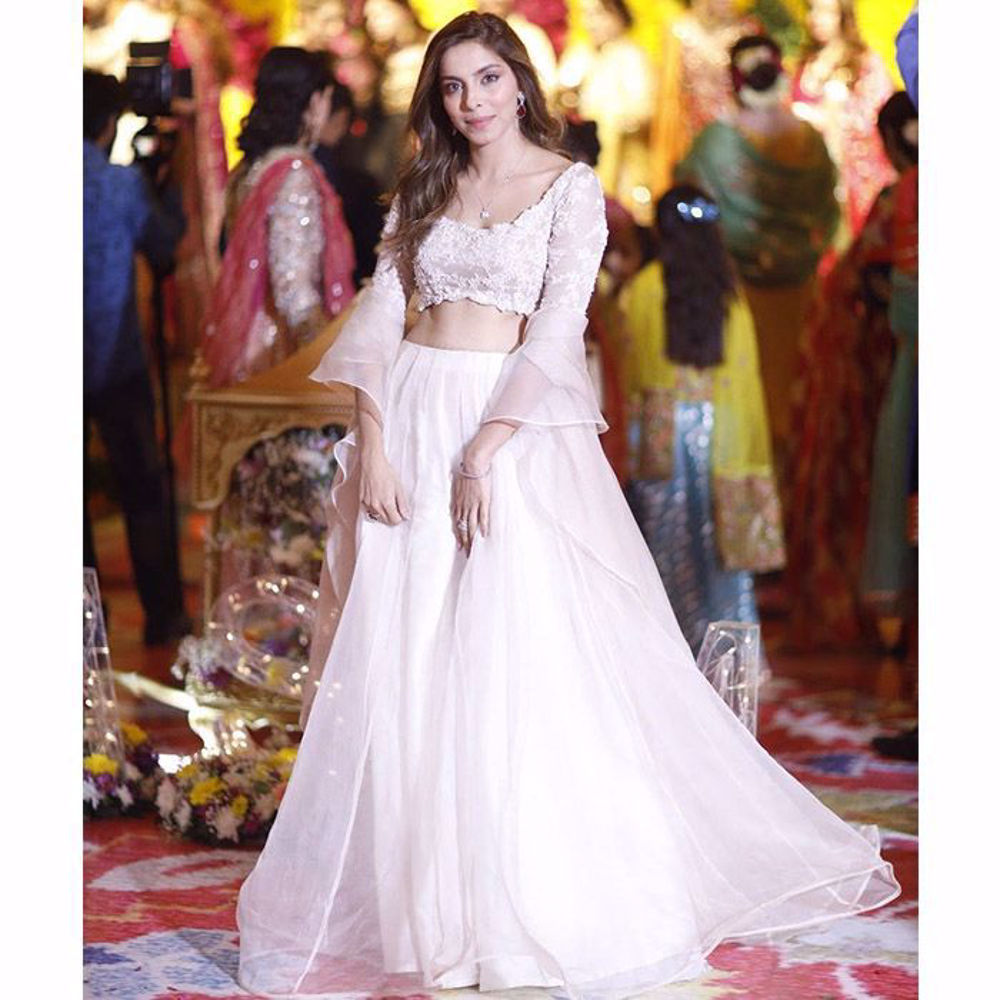 Picture of Our client making a statement wearing Mahtab lehnga choli
