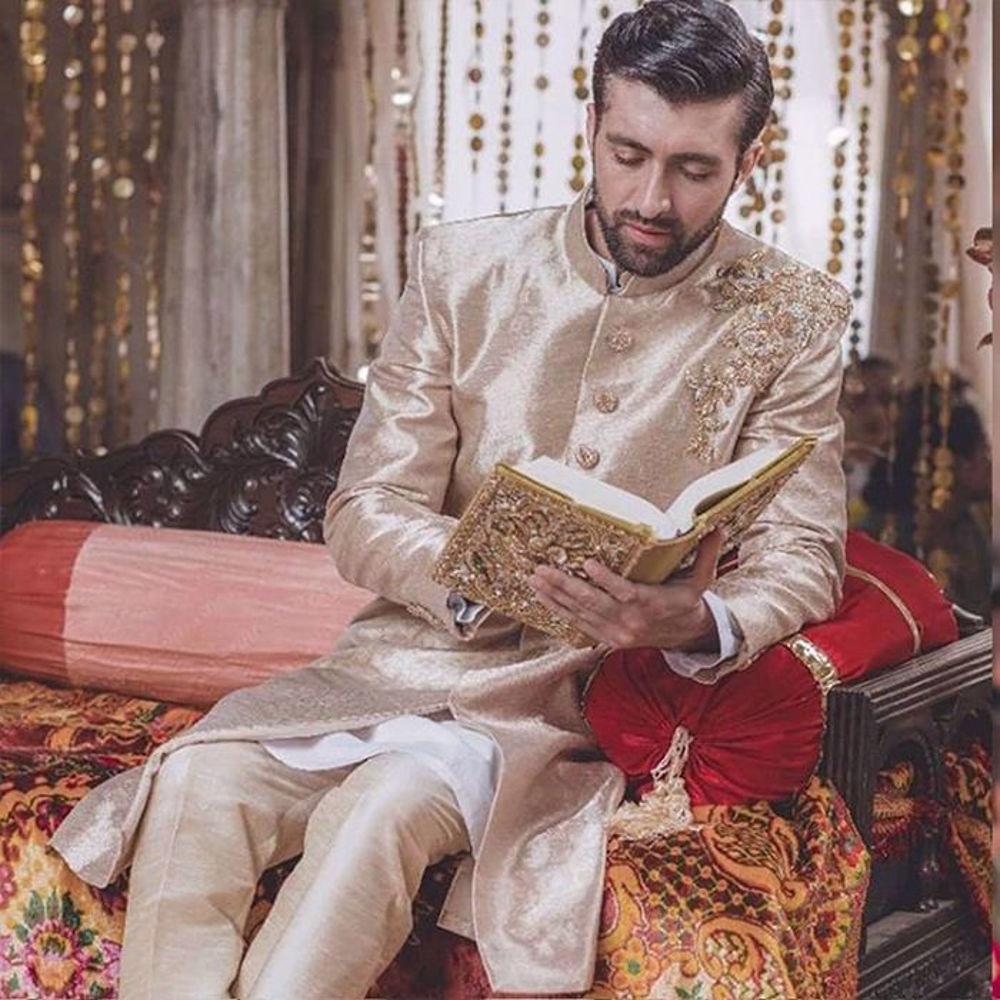 Picture of Zainab Salman's wedding menswear!