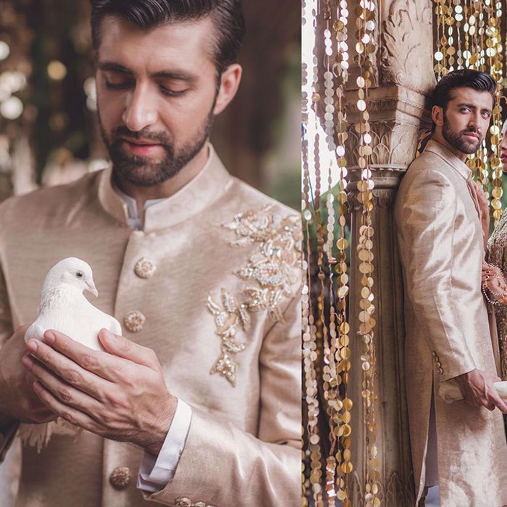 Picture of Zainab Salman's wedding menswear from the Bazeecha-E-Ishq