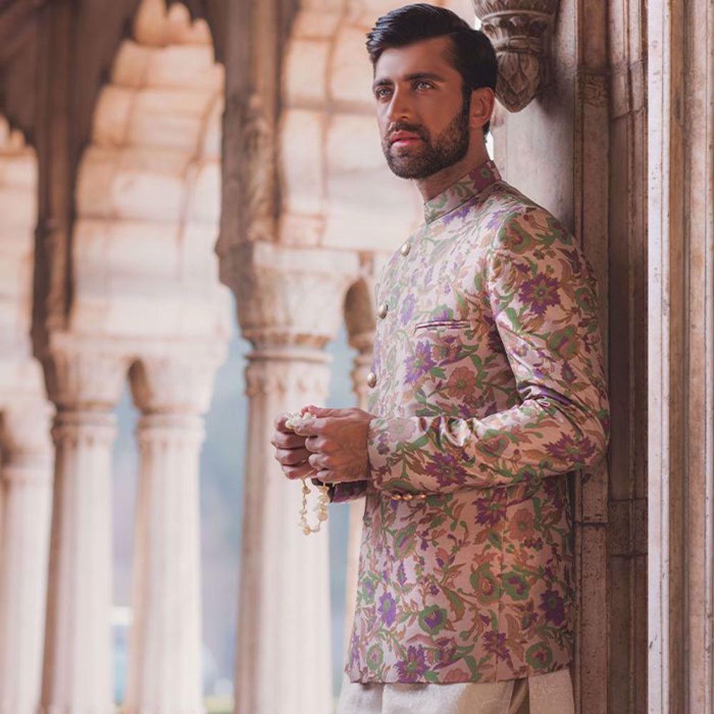 Picture of Zainab Salman's wedding menswear from the Bazeecha-E-Ishq collection!