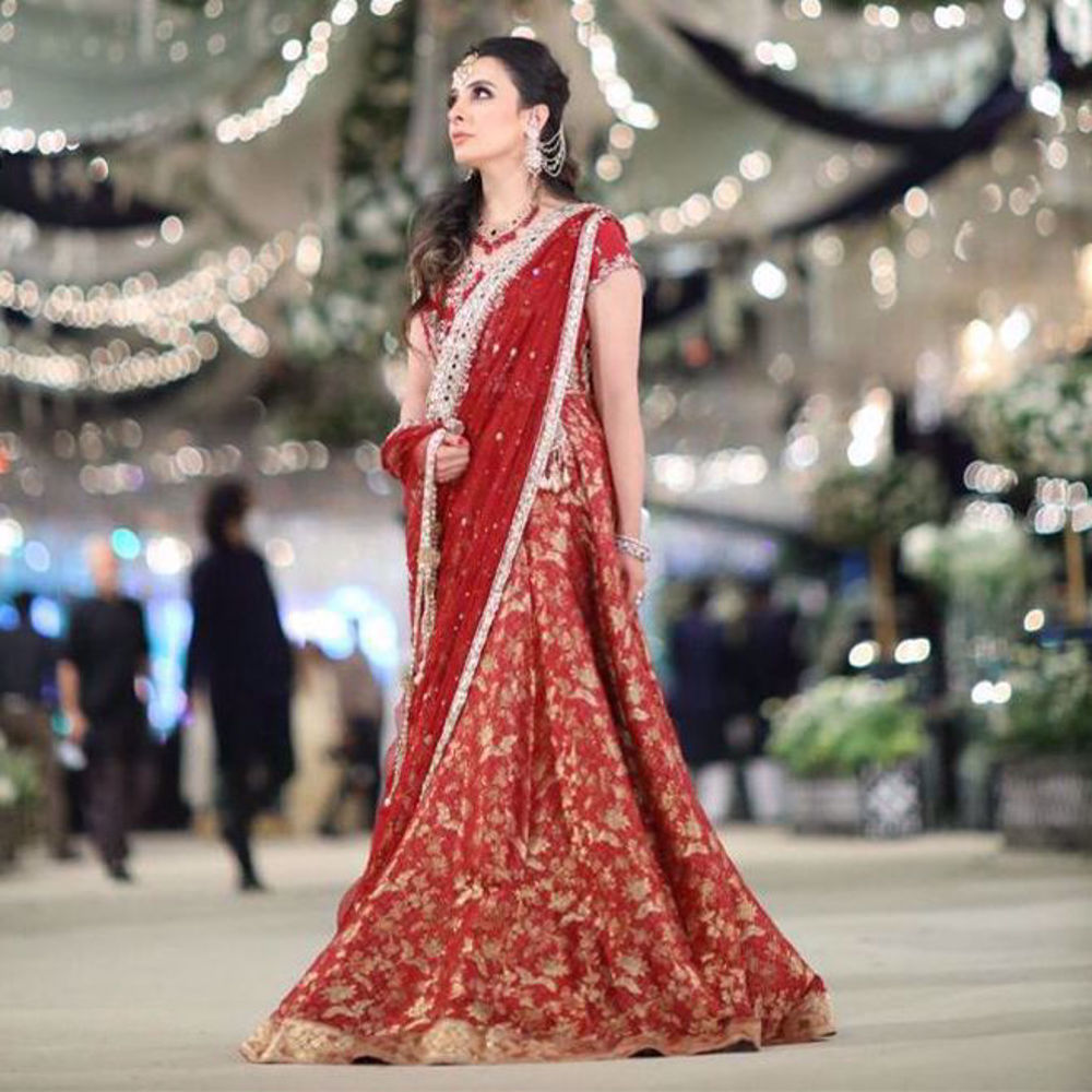 Picture of We can't take our eyes off @zainabsalmanprivate looking absolutely beautiful in a gorgeous Udaipur Lehnga Choli